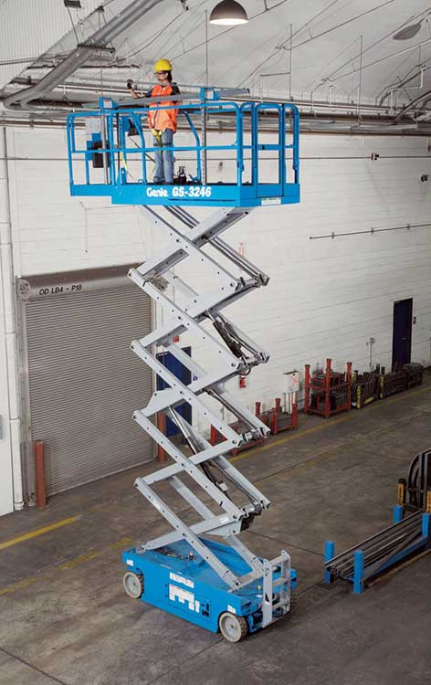 12m Electric Scissor Lift Hire Perfect For Working Indoors