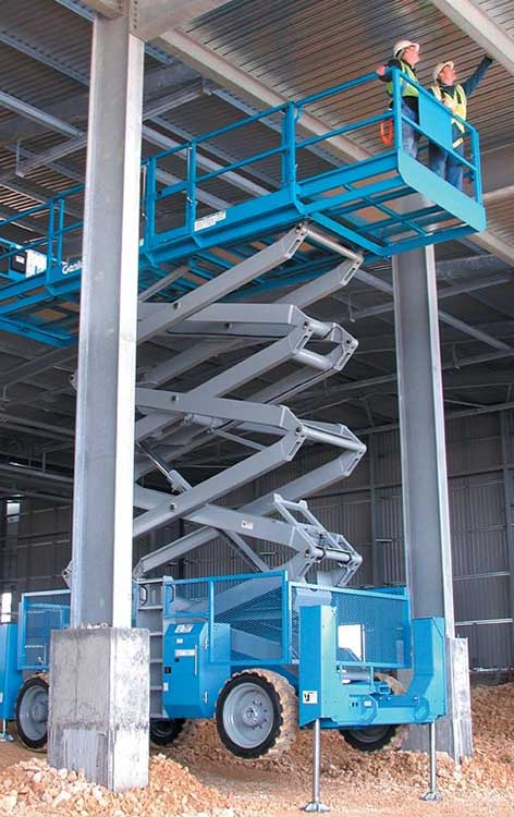 18m Diesel Scissor Lift Hire Work Up To 18m Blade Access