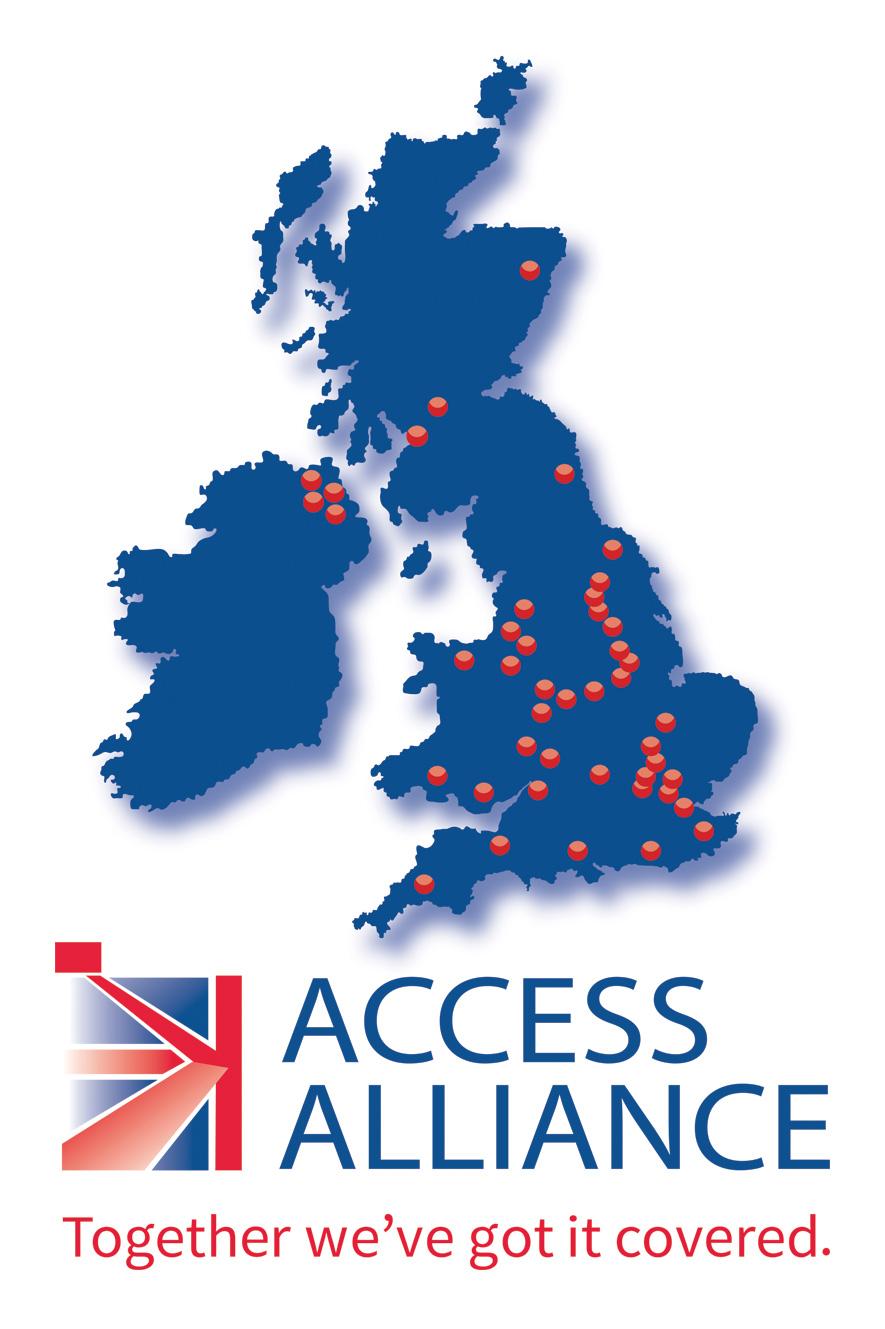 Locations of access platform hire depots