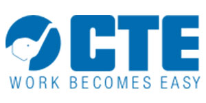 The logo for CTE self drive truck mounted platforms