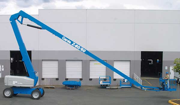 Genie Boom Lift hire Platforms can be used work at height and provide outreach