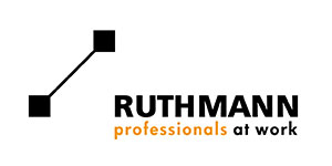 A logo for Ruthman Truck Mounted Platforms