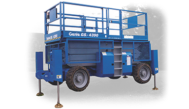 a scissor lift used for low level access